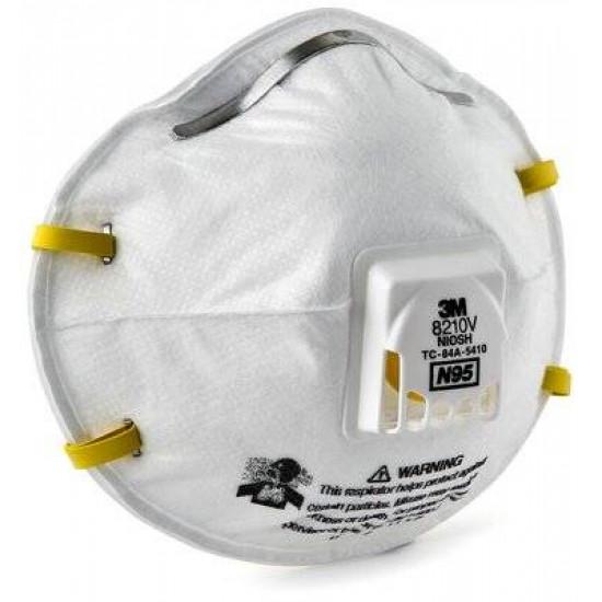 3M 8210V KN95 頭带式口罩【每箱8盒】