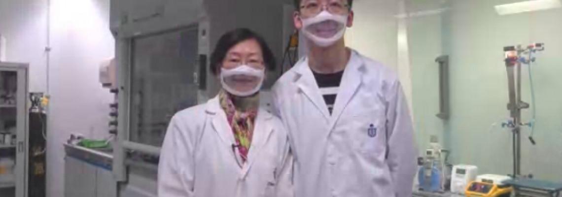 """香港高校研製出""""透明口罩""""便利聽障人群 過濾性超N95"""