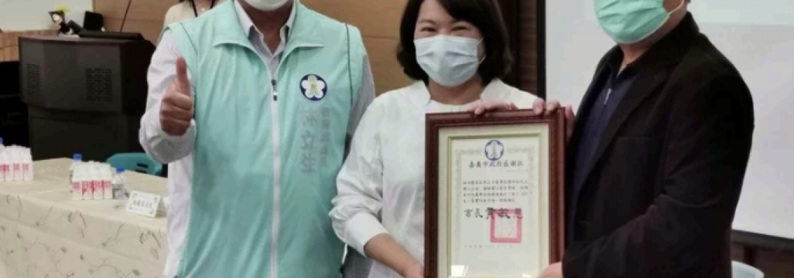 影/透明口罩捐嘉市特教老師 讓防疫學習不中斷