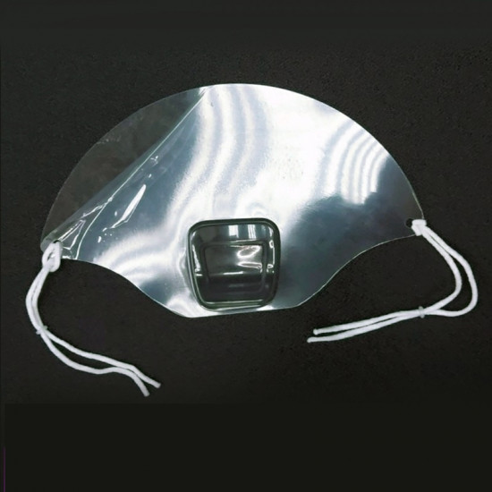 Preferential package for mouth and nose protective transparent mask