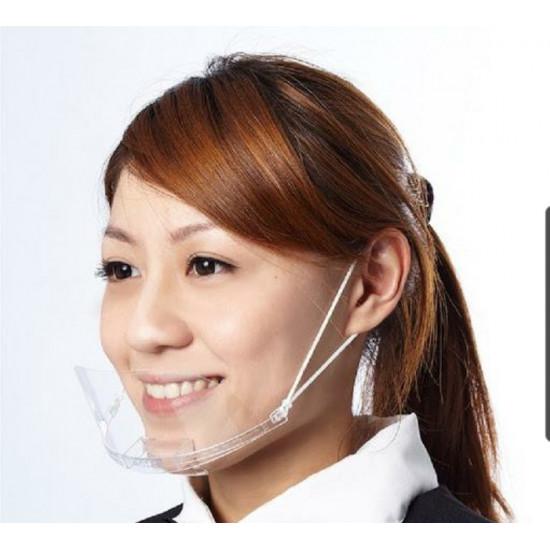 餐飲廚房全框透明口罩【一套10個】(5套起批)
