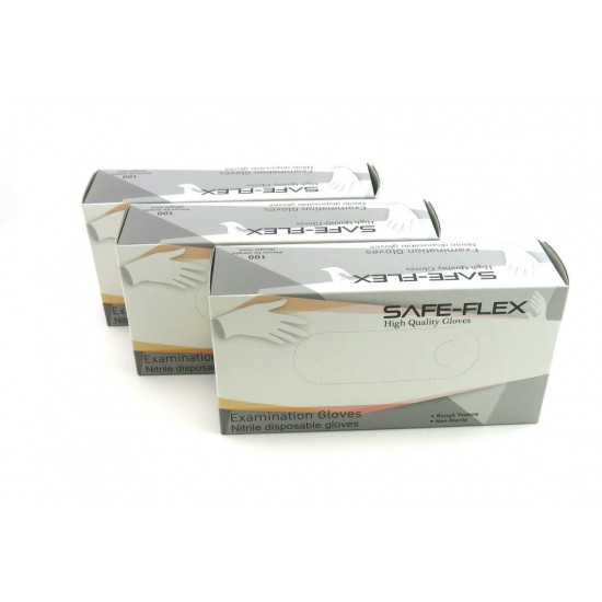 SAFE-FLEX Medical Nitrile Gloves (Powder-Free) (Minimum 30 boxes)