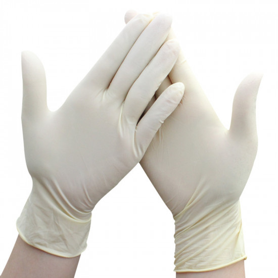 One-time thick latex gloves[10 boxes minimum batch]