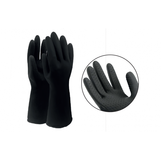 黑色橡膠清潔手套(一套12對)