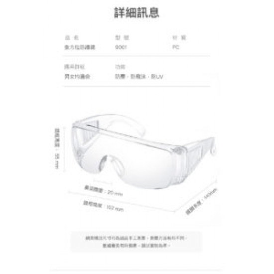 Epidemic protection goggles