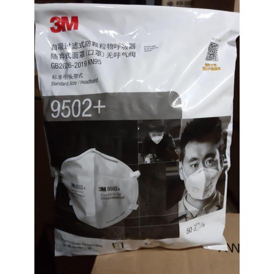 3M 9502+ KN95 頭带式【每箱10包】
