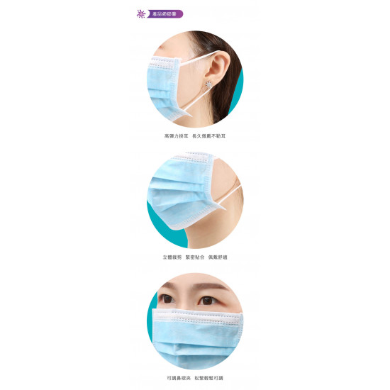 HBN adult individually wrapped mask