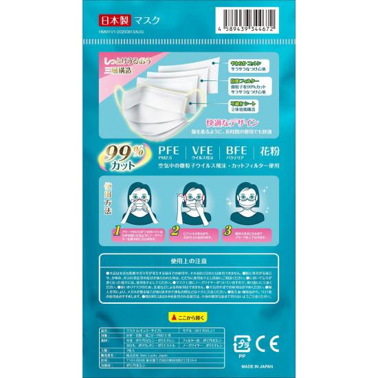 HanabixFLEVOxHBN成人日本口罩 (獨立包裝 & 鋁袋包裝)(5盒起批)
