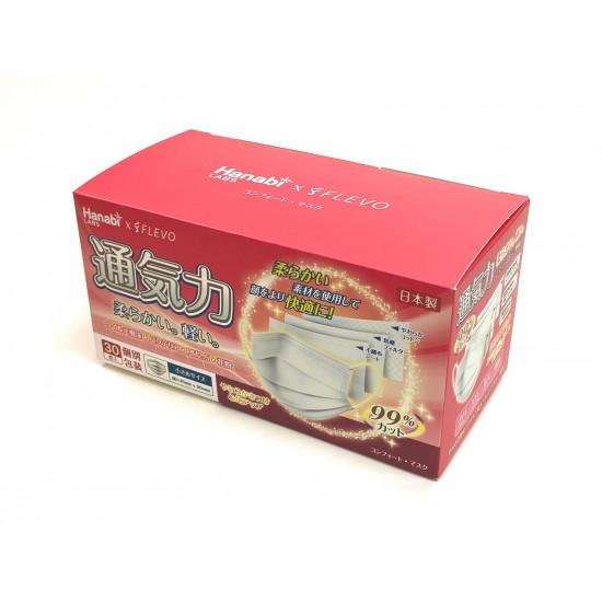 HanabixFLEVOxHBN middle child Japanese mask (individual packaging)