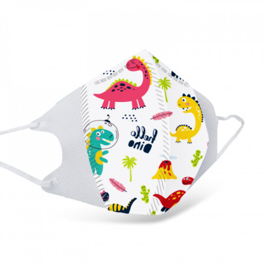 A variety of printed masks for children