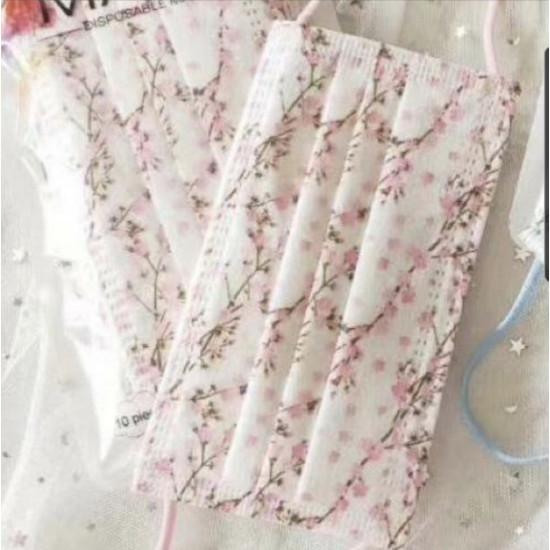 成人日式花口罩(10盒起批)